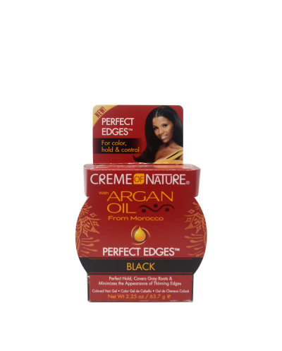 CREME OF NATURE Argan Oil Perfect Edges Black 63G