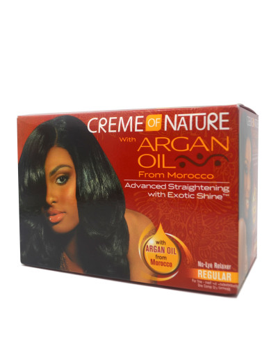 CREME OF NATURE Argan Oil Advanced Straightening With Exotic Shine REGULAR